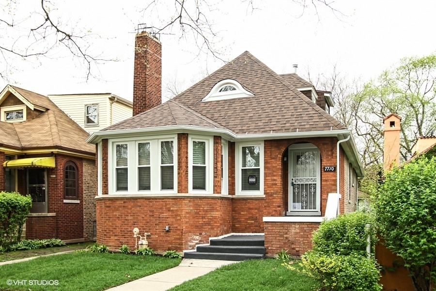 Front Elevation, Luella Chicago Home Restoration Project