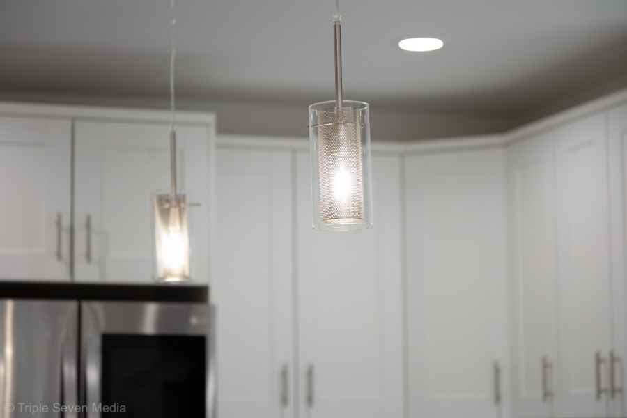 Kitchen, Island Pendant lighting, Overhill Norridge, Rehab